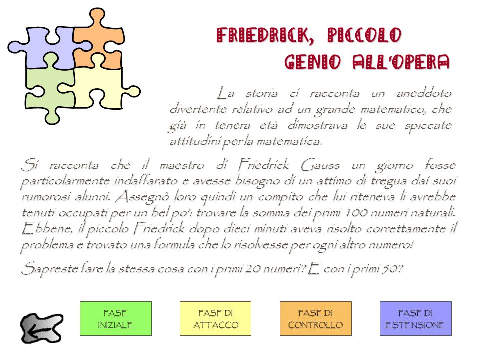 FRIEDRICK, PICCOLO GENIO ALL'OPERA