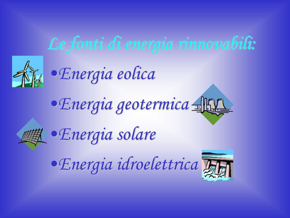 Le fonti di energia rinnovabili: