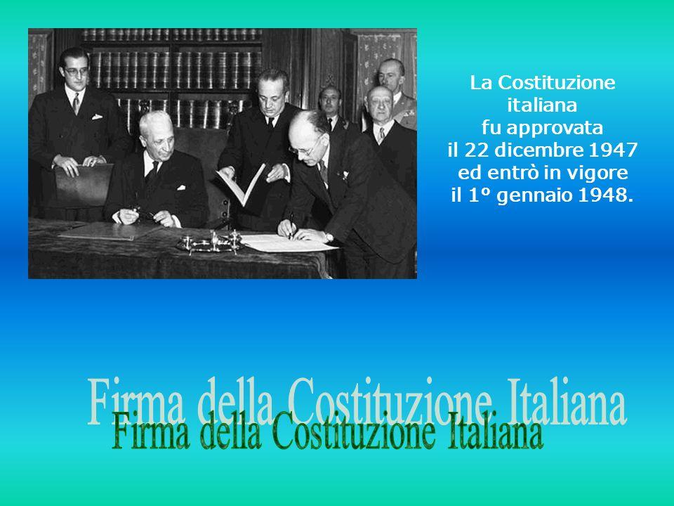Firma della Costituzione Italiana