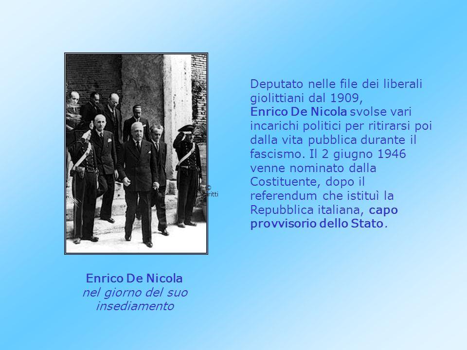 Enrico De Nicola nel giorno del suo insediamento