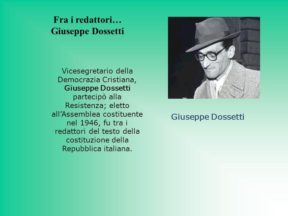 Fra i redattori… Giuseppe Dossetti