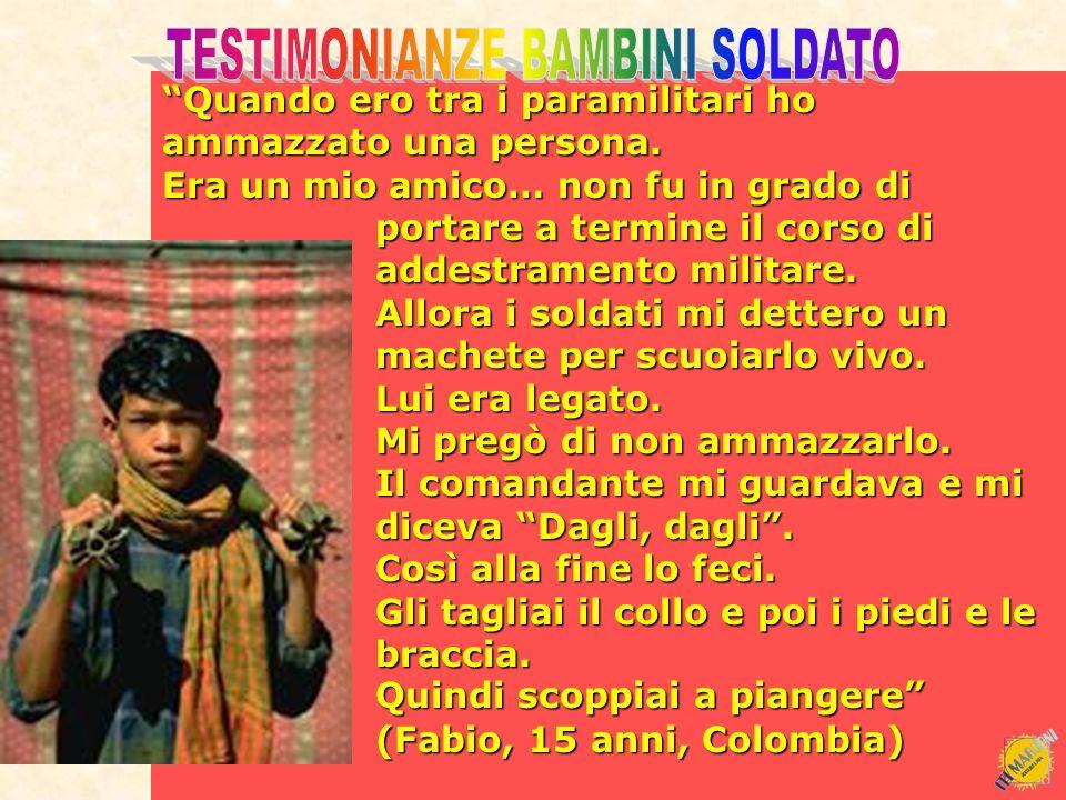 TESTIMONIANZE BAMBINI SOLDATO