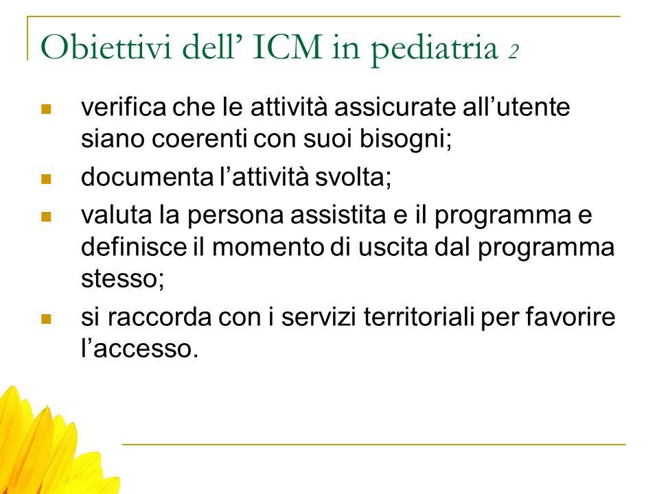 Obiettivi dell' ICM in pediatria 2