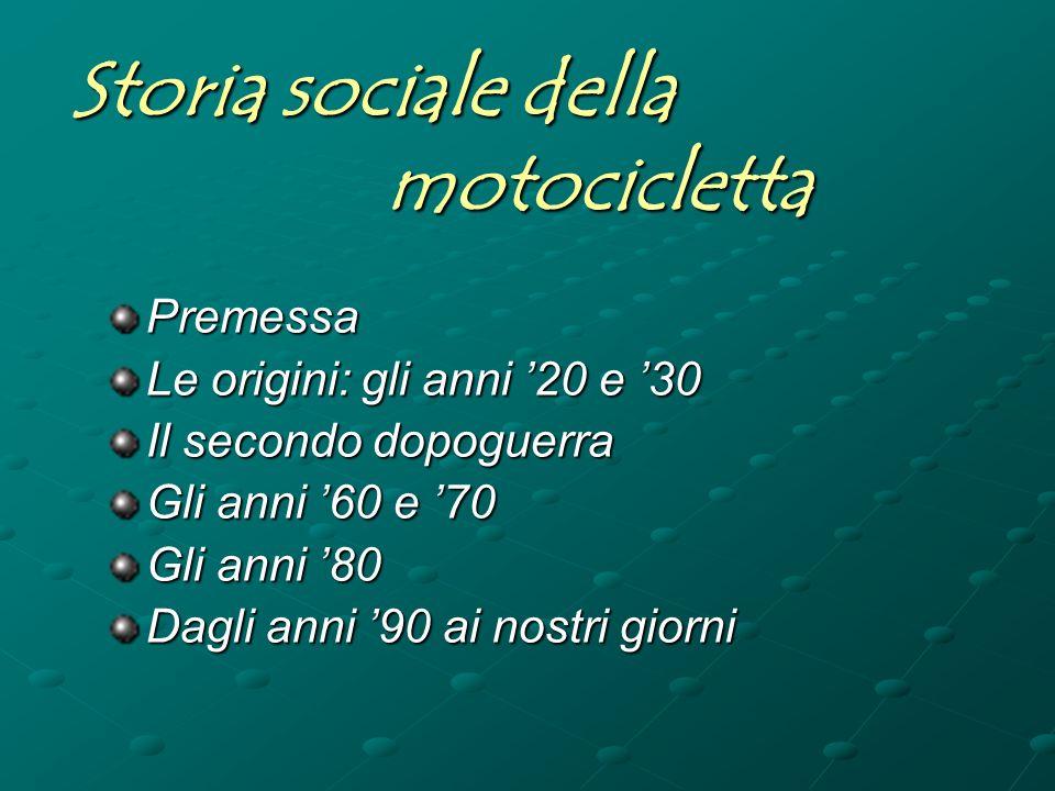 Storia sociale della motocicletta