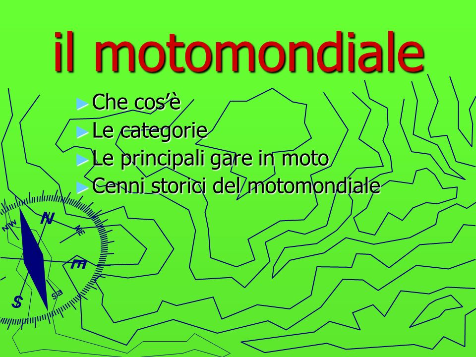 il motomondiale Che cos'è Le categorie Le principali gare in moto