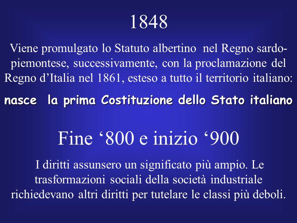 nasce la prima Costituzione dello Stato italiano