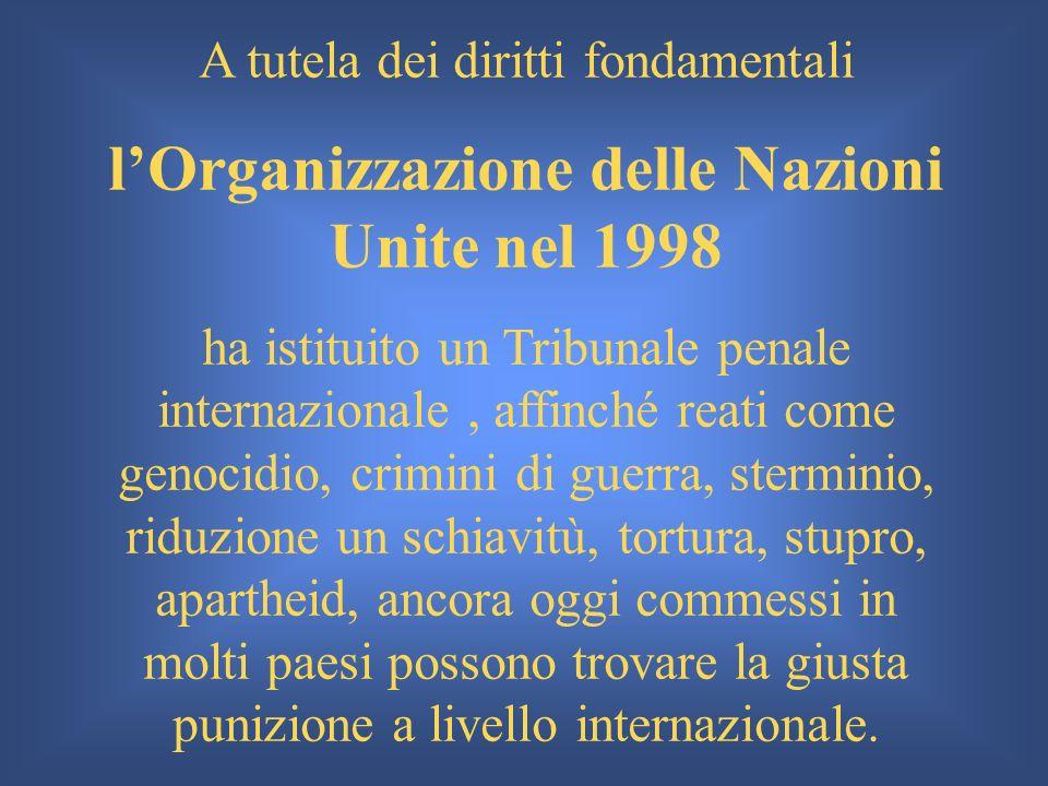 l'Organizzazione delle Nazioni Unite nel 1998