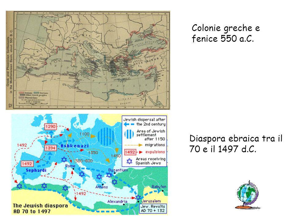 Colonie greche e fenice 550 a.C.