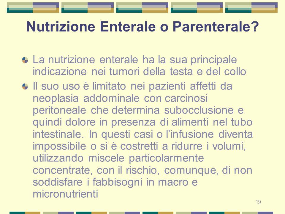 Nutrizione Enterale o Parenterale