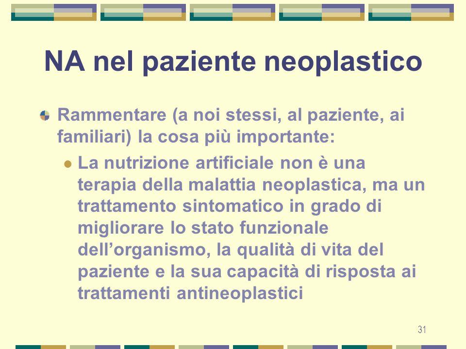 NA nel paziente neoplastico