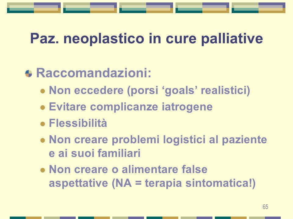 Paz. neoplastico in cure palliative