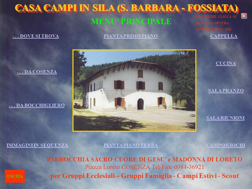 per Gruppi Ecclesiali – Gruppi Famiglia - Campi Estivi - Scout