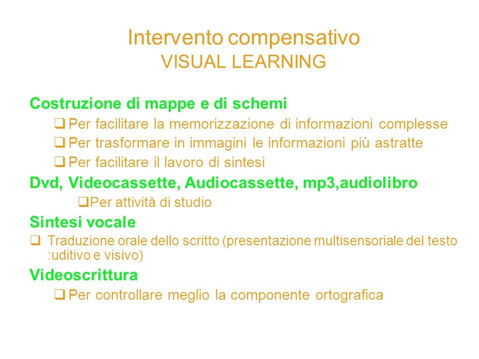 Intervento compensativo VISUAL LEARNING
