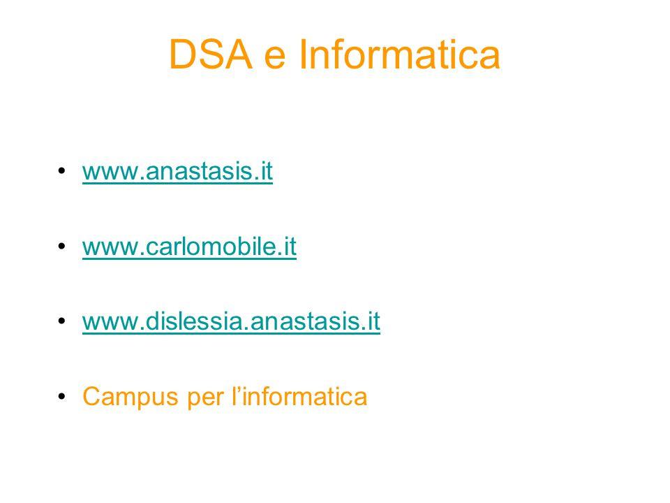 DSA e Informatica www.anastasis.it www.carlomobile.it