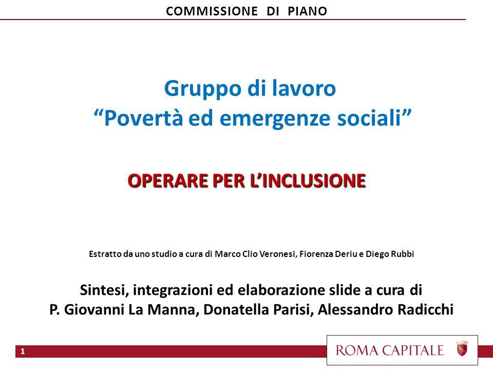 Gruppo di lavoro Povertà ed emergenze sociali