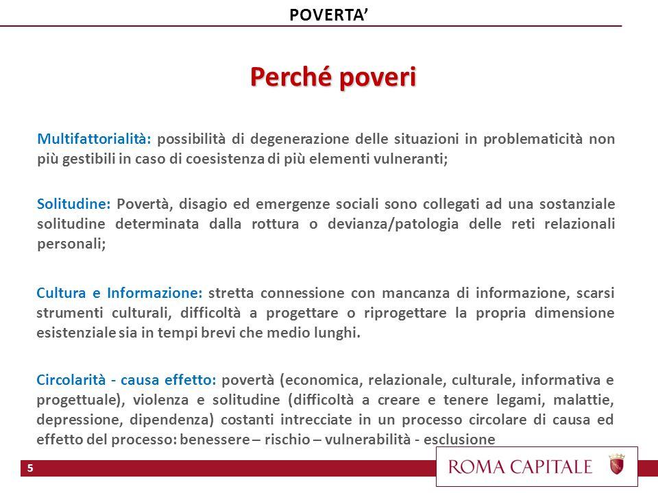 Perché poveri POVERTA'