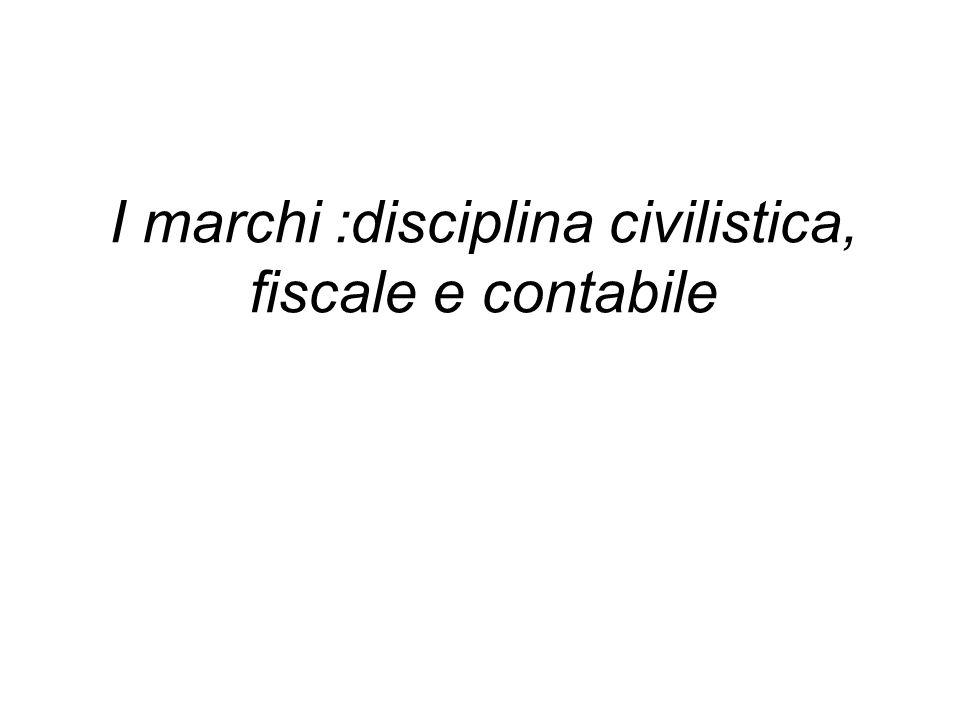 I marchi :disciplina civilistica, fiscale e contabile