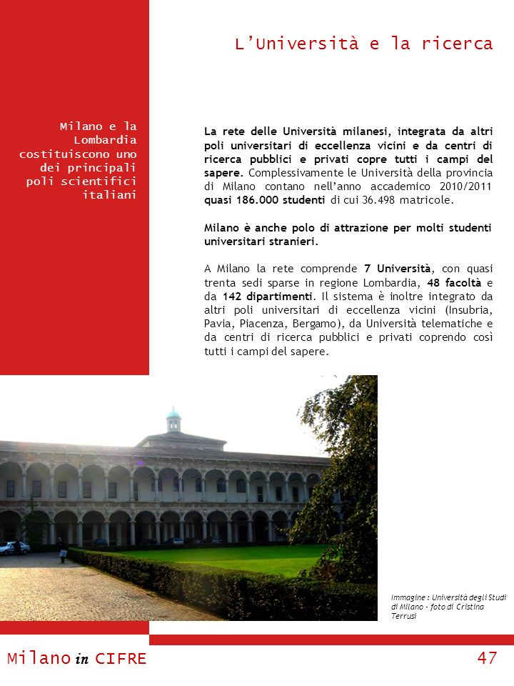 L'Università e la ricerca
