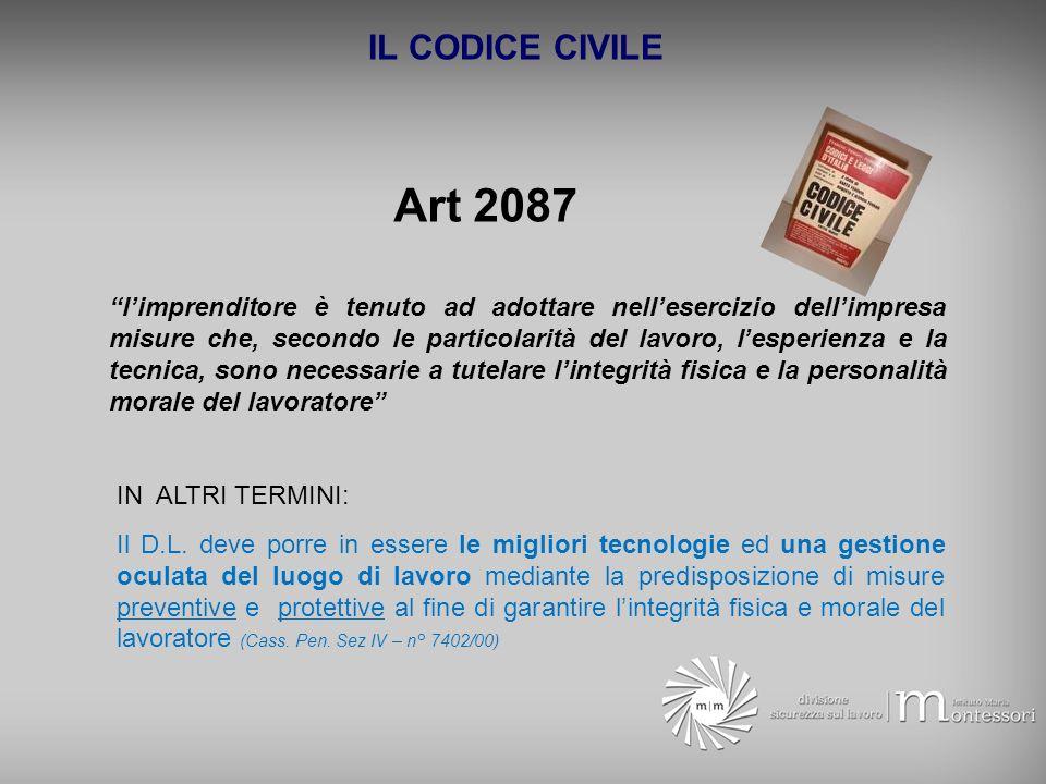 IL CODICE CIVILE Art 2087.