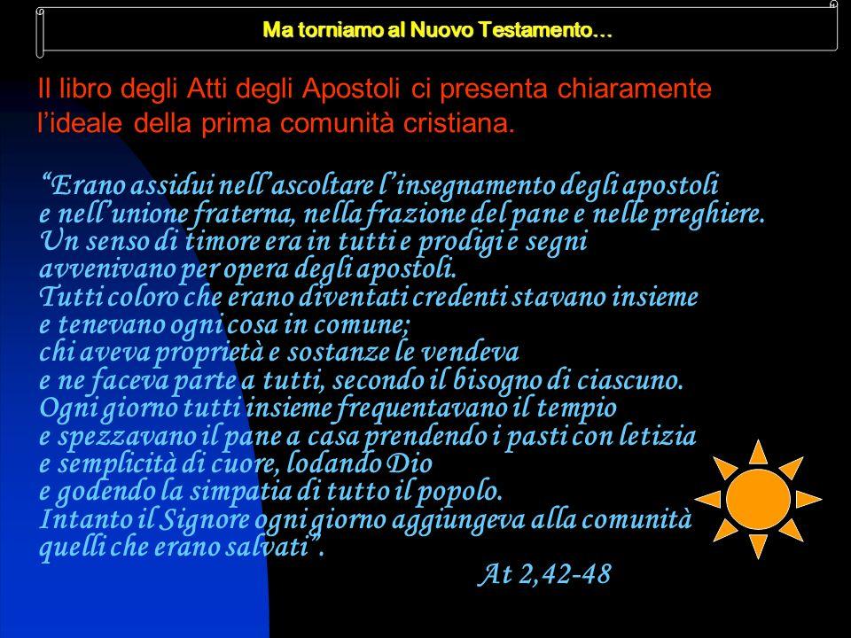 Ma torniamo al Nuovo Testamento…