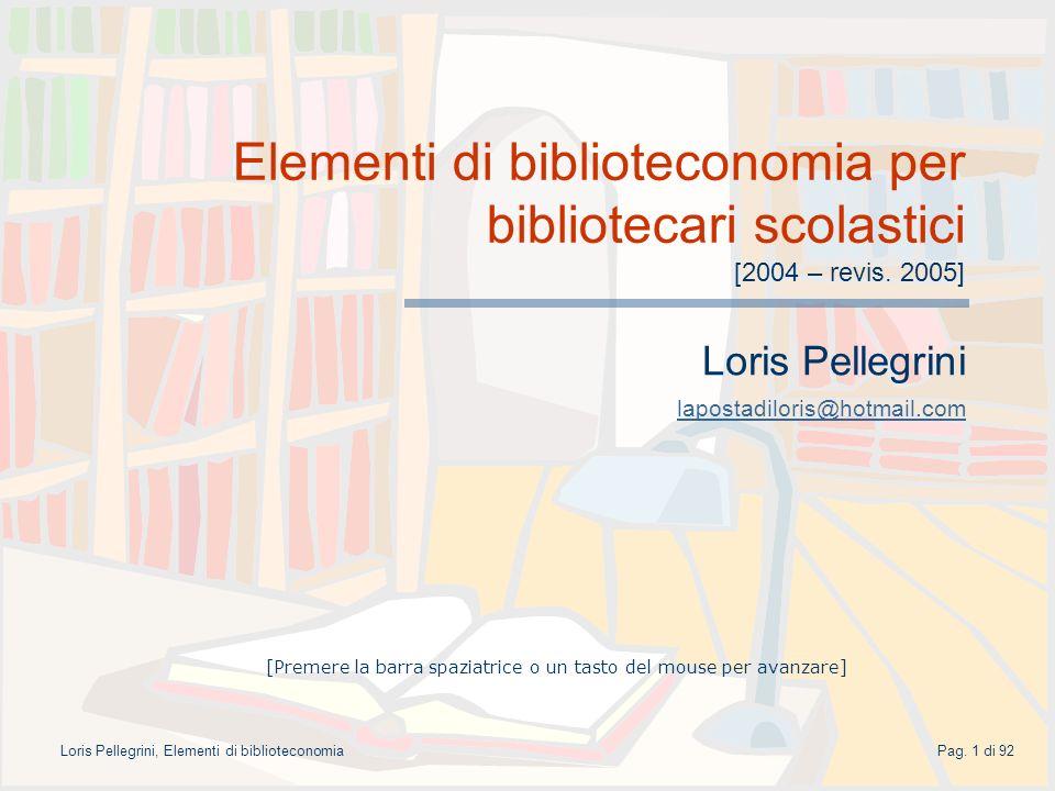 Loris Pellegrini lapostadiloris@hotmail.com