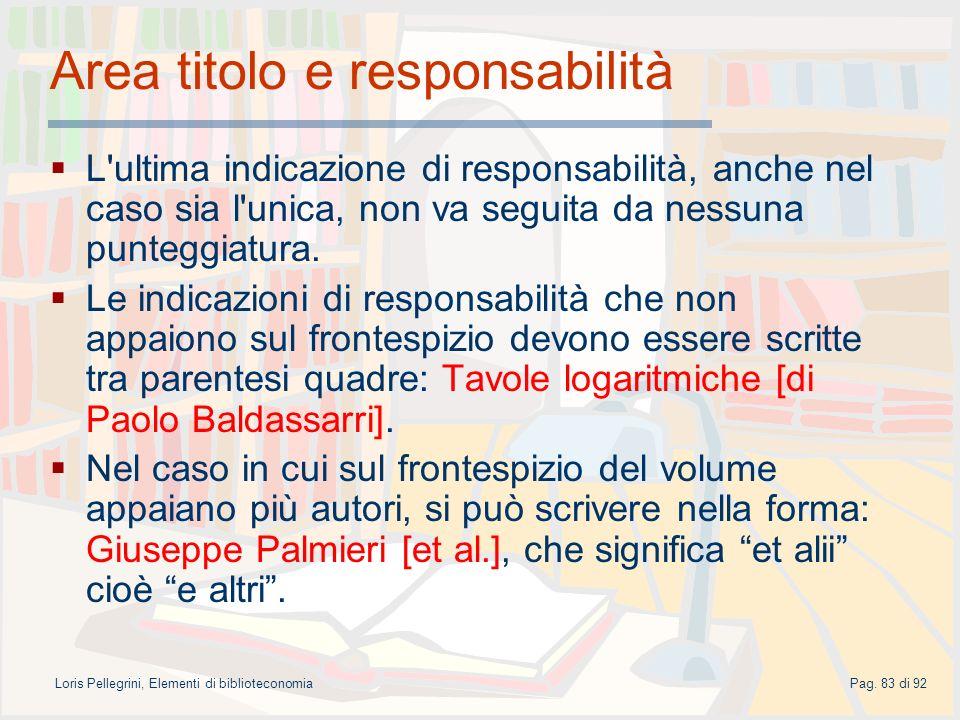 Area titolo e responsabilità