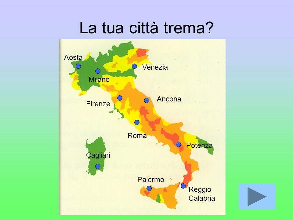La tua città trema Aosta Venezia Milano Ancona Firenze Roma Potenza