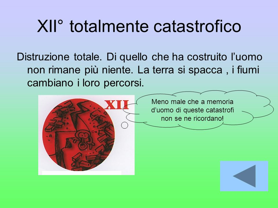 XII° totalmente catastrofico
