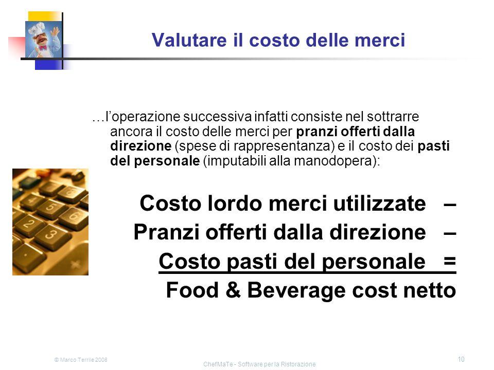 Valutare il costo delle merci