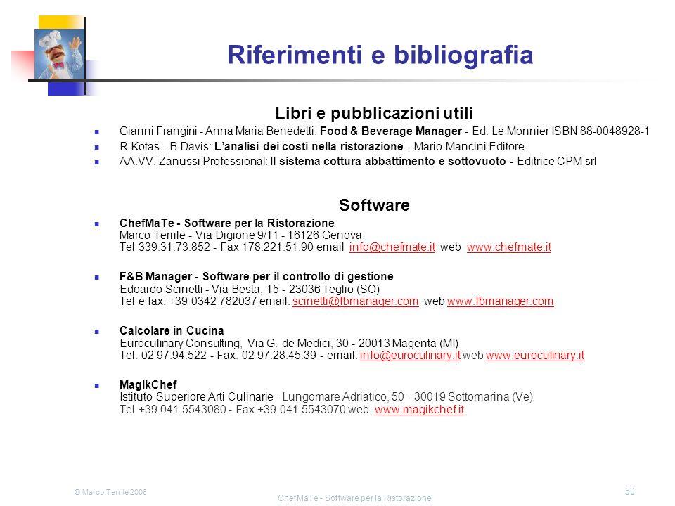 Riferimenti e bibliografia