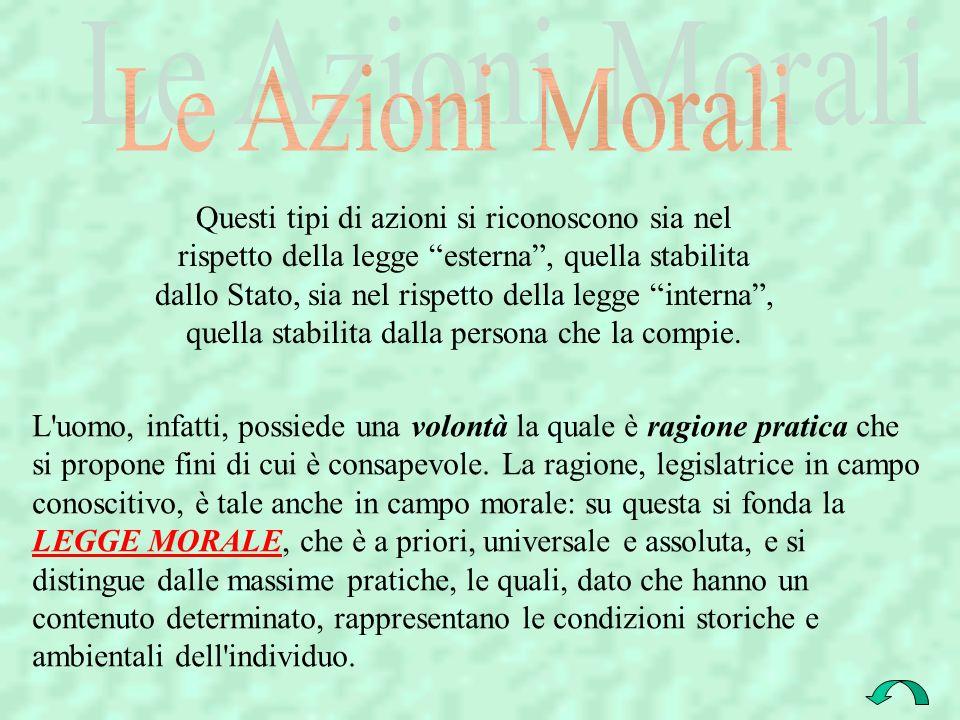 Le Azioni Morali