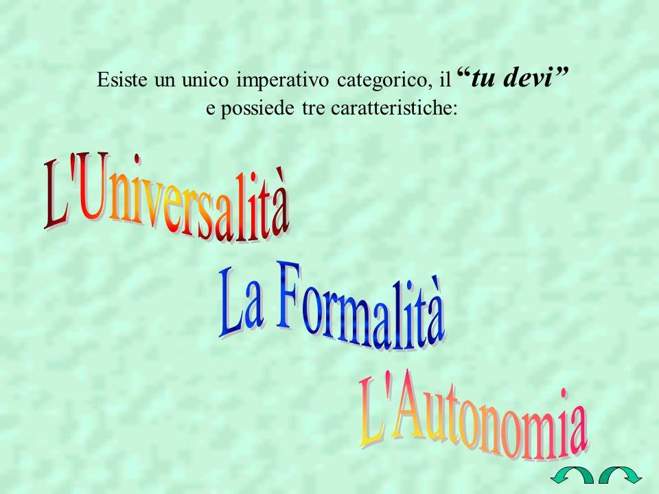 L Universalità La Formalità L Autonomia