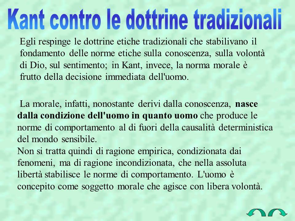 Kant contro le dottrine tradizionali