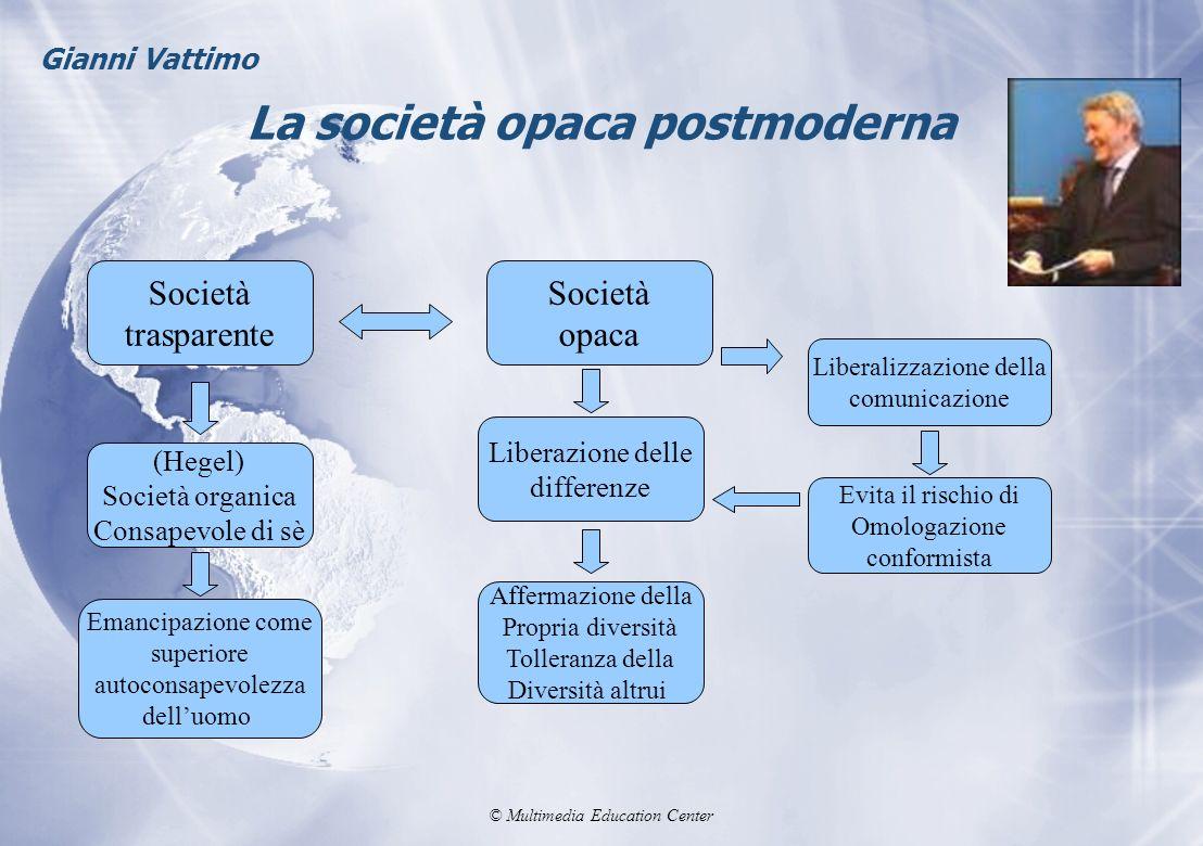 La società opaca postmoderna