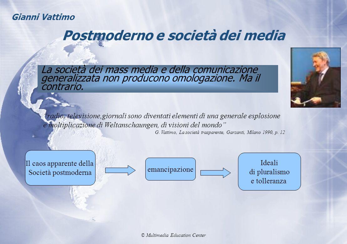 Postmoderno e società dei media