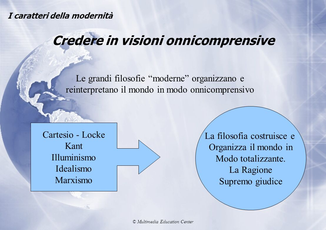 Credere in visioni onnicomprensive
