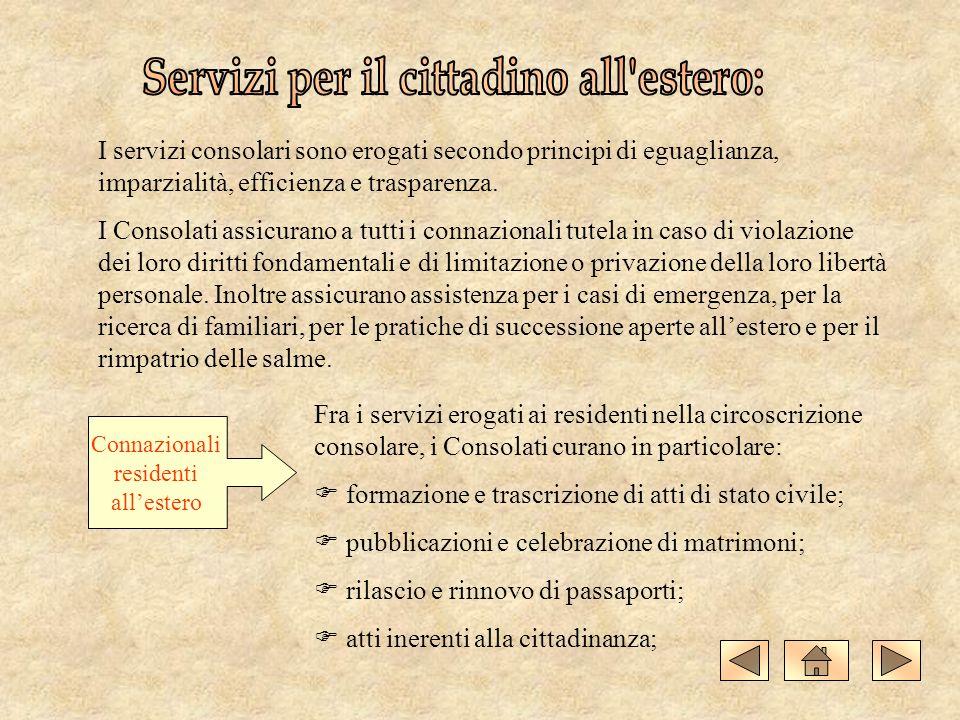 Servizi per il cittadino all estero: