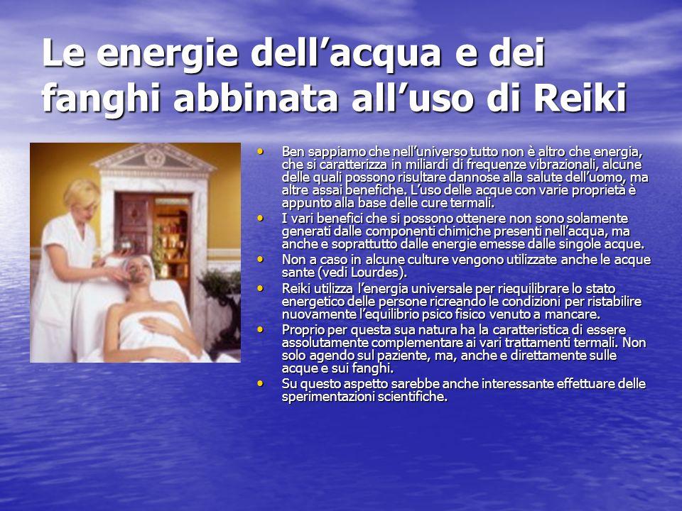 Le energie dell'acqua e dei fanghi abbinata all'uso di Reiki