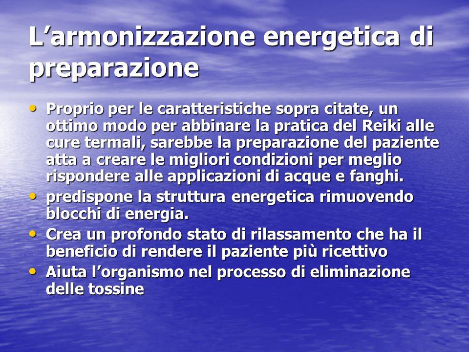 L'armonizzazione energetica di preparazione