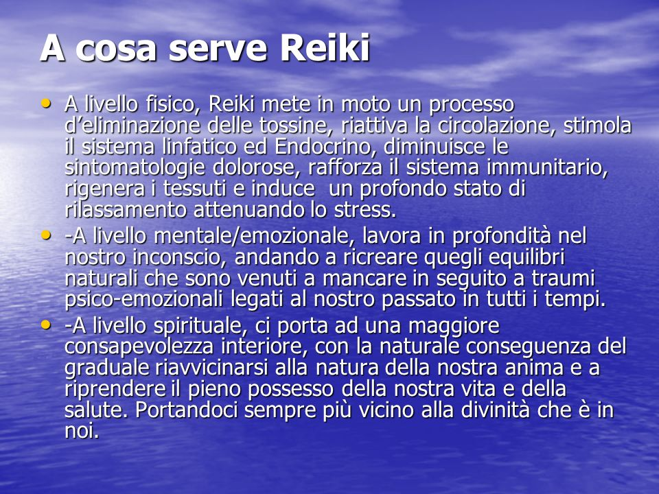 A cosa serve Reiki