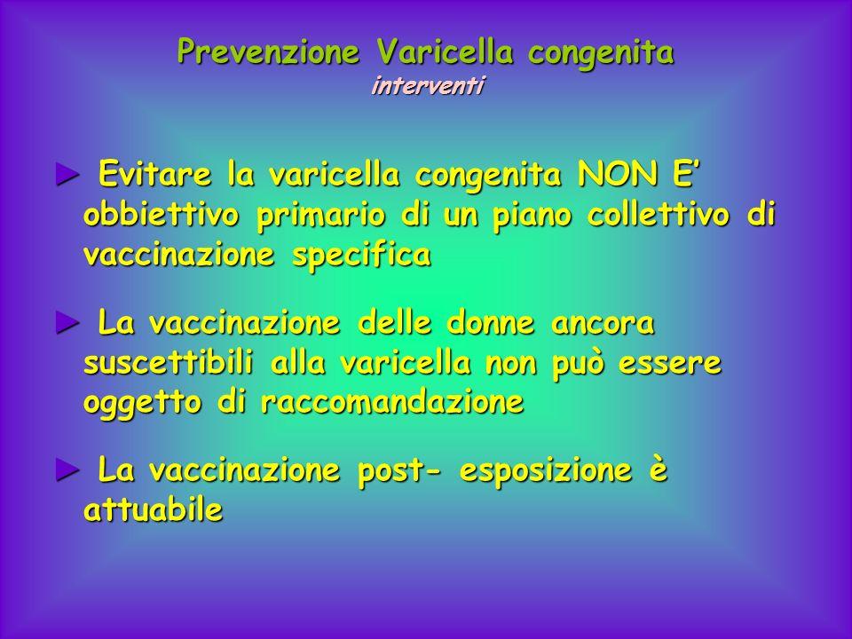 Prevenzione Varicella congenita interventi