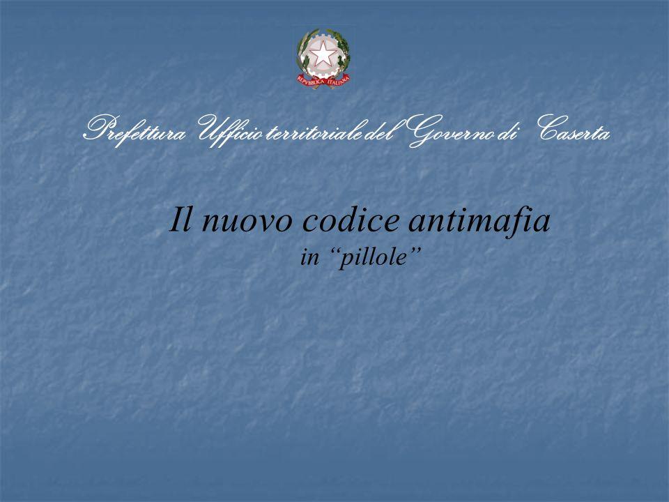 Il nuovo codice antimafia