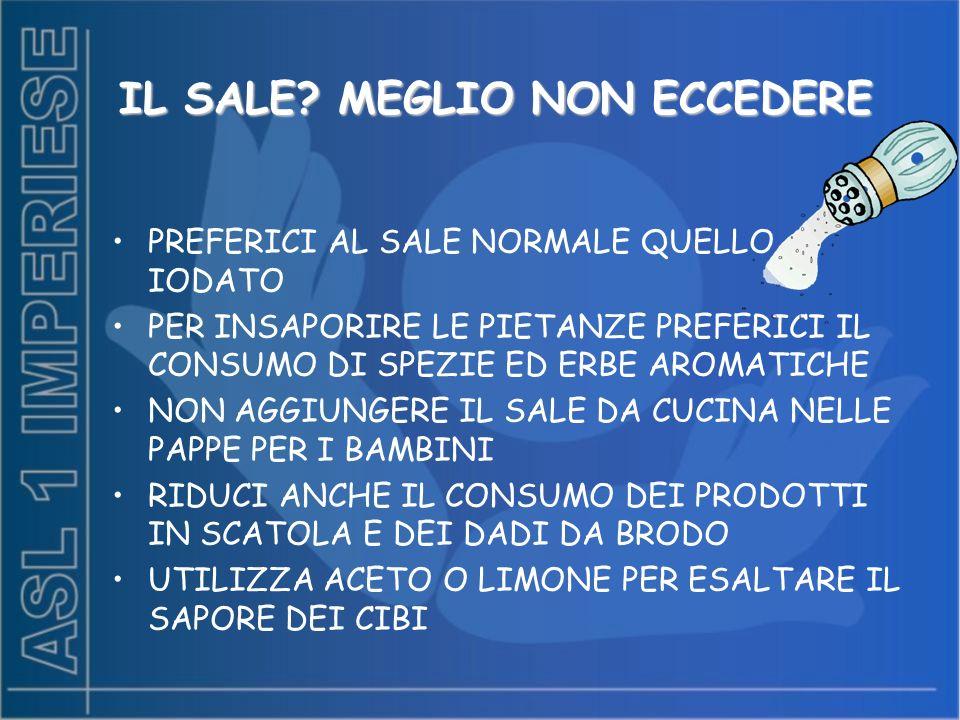 IL SALE MEGLIO NON ECCEDERE
