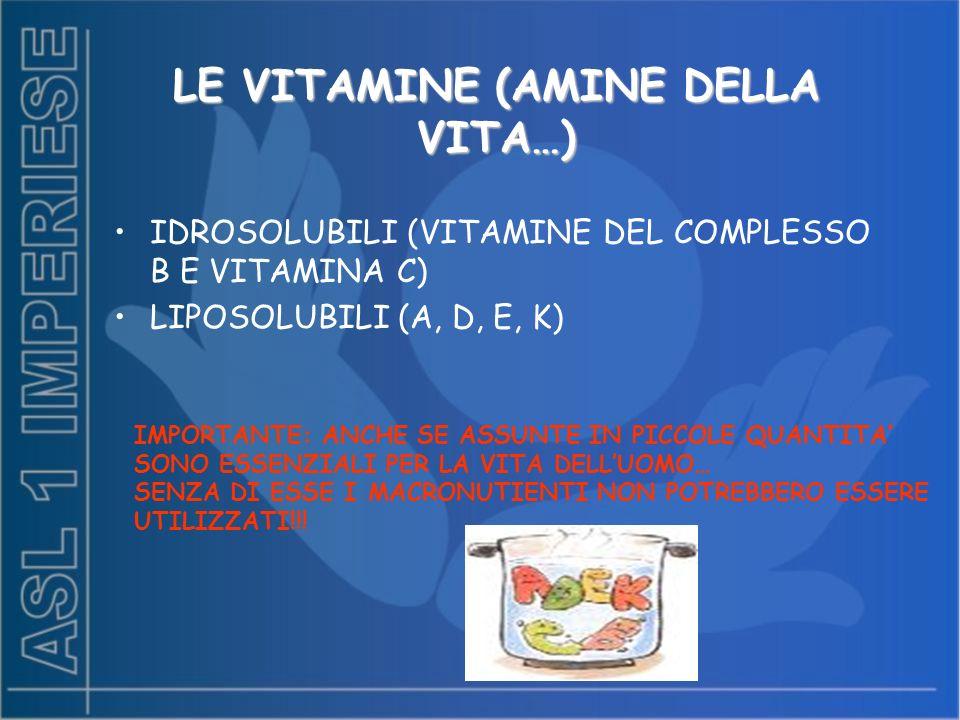 LE VITAMINE (AMINE DELLA VITA…)