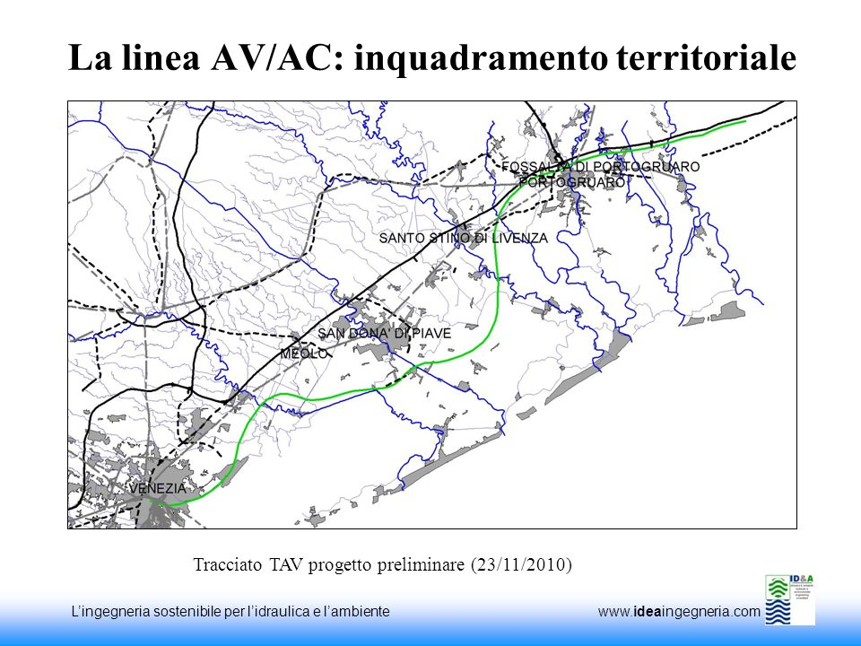 La linea AV/AC: inquadramento territoriale