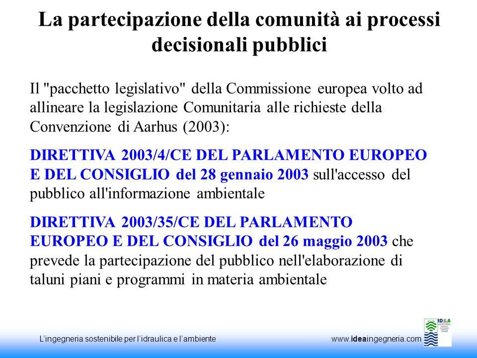 La partecipazione della comunità ai processi decisionali pubblici