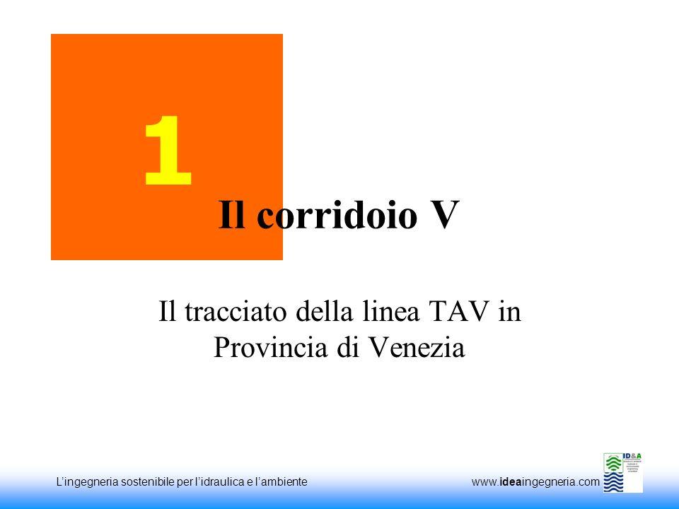 Il tracciato della linea TAV in Provincia di Venezia
