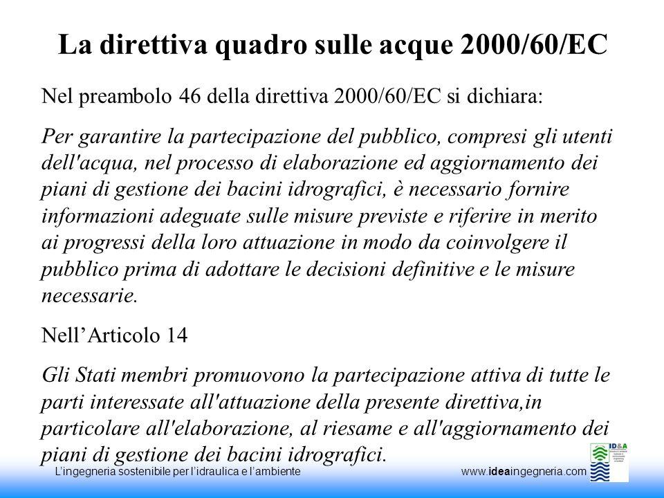 La direttiva quadro sulle acque 2000/60/EC