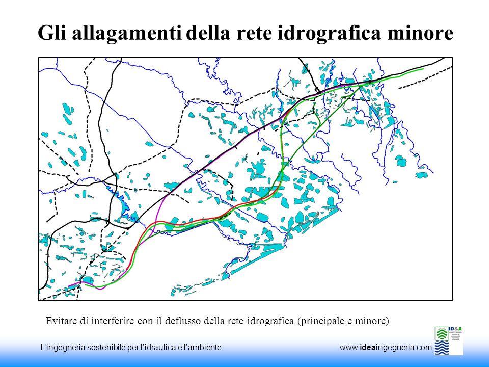 Gli allagamenti della rete idrografica minore