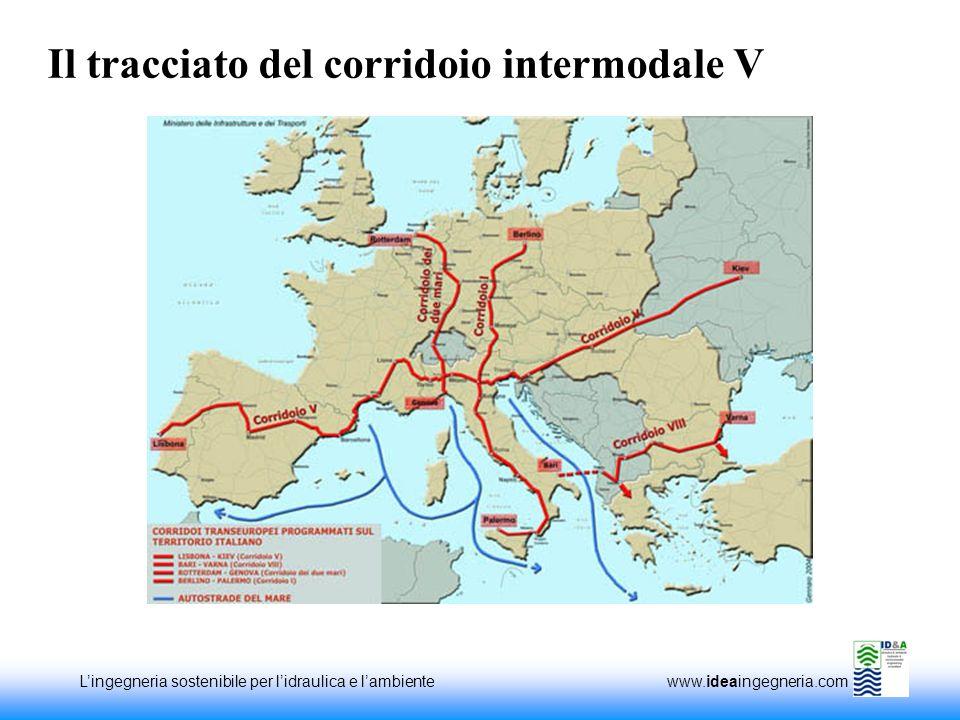 Il tracciato del corridoio intermodale V